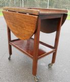Mahogany Two Tier Dropleaf Tea Trolley